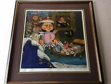 """King of the Me's"" Charles Bragg Color Serigraph, Numbered & Signed, Framed, COA"