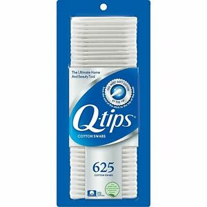 Q-tips Brand 100% Pure Cotton Swabs Brand New Never Opened 625 Swabs