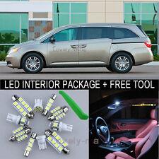 White LED Interior Package Light Bulb 18X Kit For 11 2013 Honda Odyssey + Tool J