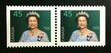 Canada #1360as PP MNH, Queen Elizabeth II Booklet Pair of Stamps 1995