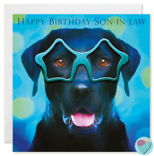 Son in Law Birthday Card HAPPY BIRTHDAY SON-IN-LAW to or from Labrador dog lover