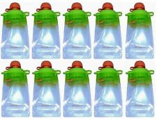 Booginhead Squeez'Ems Reusable Homemade Baby Food Snack Smoothie Pouches 10 PACK