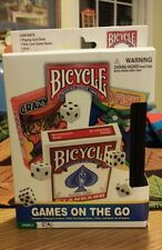 NIP 25 Games on the Go Card Dice Travel Case by Bicycle Deck Go Fish Kids Family