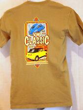 VW Classic Car Show T shirt Men's Irvine Ca Bus Volkswagon Peach Size S Cotton