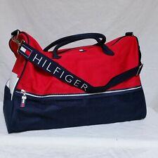 VTG Tommy Hilfiger Duffle Bag Big Flag Gym Colorblock Sport Backpack Spell Out