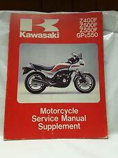 New NOS OEM Kawasaki Service Shop Manual Supplement ZX550 GPz Z500 99924-1040-02