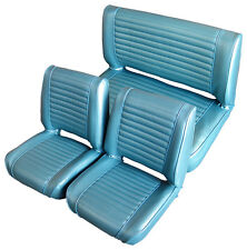 """1967-73 Willys Jeepster Commando Upholstery - 1-1/2"""" Pleats - Square Top"""