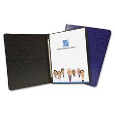 ACCO Antimicrobial Pressboard Report Cover, Clip, Letter, 3 Cap, Black, Each