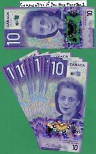 2018 Bank of Canada 10 dollar Ten Dollars  Wilkins Poloz FTY  in sequence