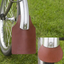 Mudguard Flap Set for BROMPTON Genuine Leather in Light Brown