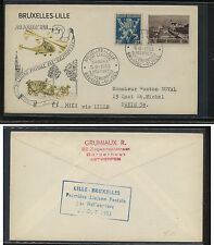 Belgium  B540  on  helicopter flight cover  1953          KL0831