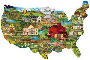 "Jigsaw Puzzle Explore America United States Map Freeform 1000 pc NEW 34½"" x 22"""