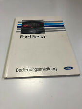 Ford Fiesta Manual/Driver's Guide (1993)