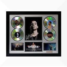 Drake Signed & Framed Memorabilia - 4 CD - Silver/Black Limited Edition