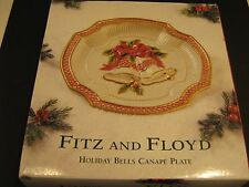 "Fitz & Floyd Holiday Bells Canape Plate 9"" Wall Hanging"