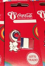 Londres 2012 jeux olympiques coca cola France flag pin badge