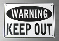"""WARNING KEEP OUT"" 10"" x 7"" WARNING SIGN, METAL, HEAVY DUTY"
