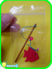 """Mini Fishing Pole   """"Girl Scout"""" or """"Boy Scout"""" SWAPS  Craft Kit  by Swaps4Less"""