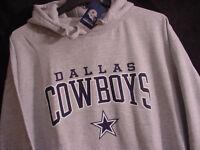 NEW NWOT Authentic Dallas Cowboys Pullover Logo Hoodie SweatShirt Gray Men's M