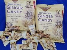 GINGER CANDY 100% Natural from Prince of Peace 2 packs 4.4oz ea FREE SHIP in USA