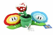 3pcs Super Mario Bros Fire & Ice Flower Piranha Plant Decoration Soft Plush Toys