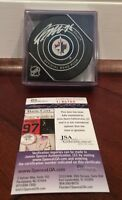 Patrik Laine Autographed Signed Official NHL Game Puck Winnipeg Jets JSA COA