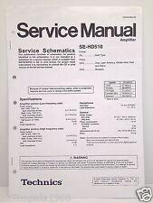 Technics Original Service Manual Schematics SE-HD510 Amplifier