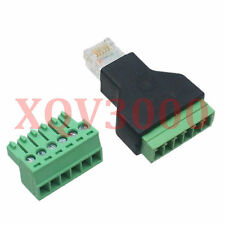 1pce Ethernet RJ12 6p6c male plug AV SCREW NUT Terminal 8pin Converter Adapter