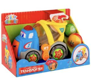 NEW GIGGLE & GROW LIGHTS & SOUND TRANSPORTER TOY KEEP KIDS HAPPY AND BUSY 12m+
