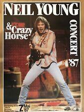 NEIL YOUNG  1987  NÜRNBERG - orig.Concert Poster - Konzert Plakat  A1  NEU