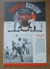 Manchester United v Chelsea, 1950/51 - Division One Match Programme