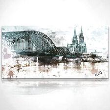 Kölner Dom Skyline Bild Leinwand Abstrakt Kunst Bilder Wandbild Kunstdruck D0030