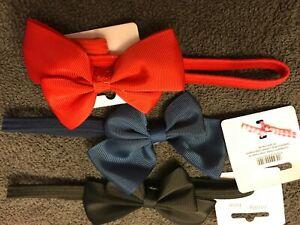 Coloured hair elastic long 20cm stretchy band fabric bow headband bandeaux