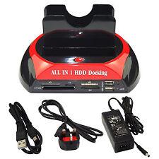 "Latest HDD DOCKING STATION IDE SATA 2.5 "" & 3.5"" Dual hard drive disco USB 2.0..."