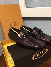 $595 TOD'S *2017 LIMITED EDITION* 6uk/7us Italy Loafers Driving Shoes ~textured