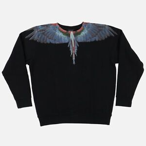 Marcelo Burlon Blue and Red Wings Tecka Sweatshirt   Size L Relaxed fit