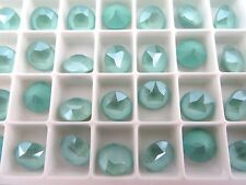6 Mint Green Unfoiled Swarovski Crystal Chaton Stone 1088 39ss 8mm