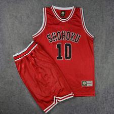 Slam Dunk Basketball Jersey SD Cosplay Costume Shohoku Red Athletic Apparel Cos