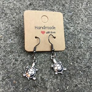 Handmade Cute Baby Turtle Hook Earrings Gift Present Stocking Filler MT034