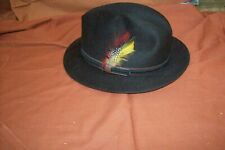 Hat For Men Black Suede High Quality Suede Read Interior, Robert Hall