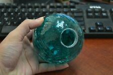 """Reproduction Turquoise Hand Blown Glass Float Ball Buoy 4"""" #F-506Ch"""