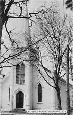 Shelburne Nova Scotia Canada view of Baptist Church real photo pc Y11541