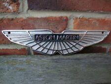 Aston Martin sign cast aluminium chrome plated dealer sign small garage sign