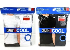 32 Degrees Cool Men's Solid Crew Tee T-Shirt/Top 3-pack
