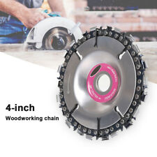 4 inch Steel Chain saw Blade for Wood Carving 22 Teeth Angle Grinder Disc Arbor
