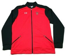 Under Armour Texas Tech Red Raiders Black Full Zip Warm-Up Jacket XL TALL Mens