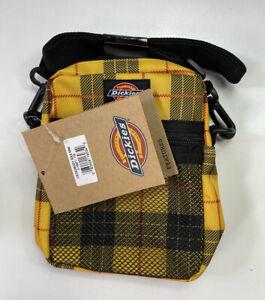 NWT Dickies Yellow & Black Checkered Mini Crossbody Bag