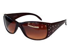 Damenbrille Braun Sonnenbrille Pornobrille mit Strass Schicke Brille M 39