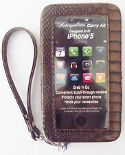 New iPhone 5 Case Carry All Wristlet Organizer Wallet Brown Metropolitan