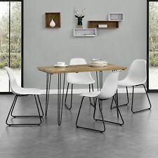 [en.casa] Dining Table 120x60cm Kitchen Room hairpin-legs Wood Look